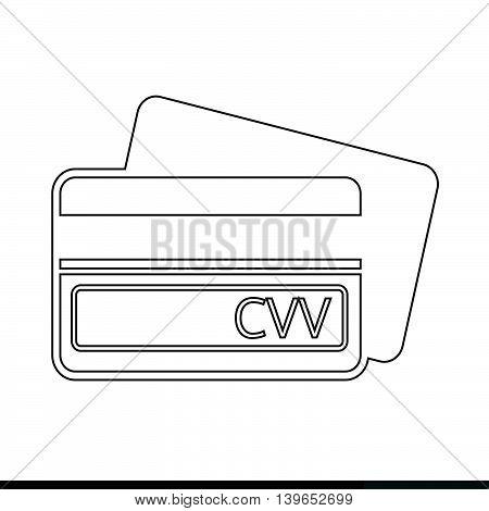 Card Verification Value CVV icon illustration design