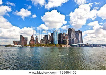 New York City Panorama With Manhattan Skyline