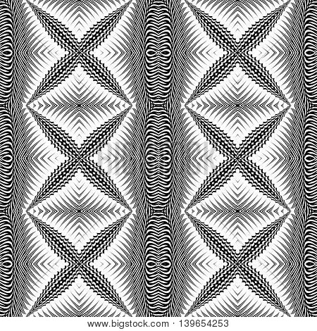 Design Seamless Monochrome Cross Pattern