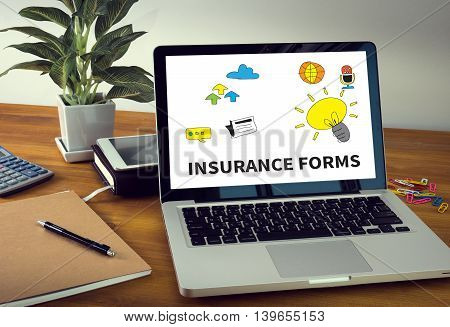 Insurance Forms Concept
