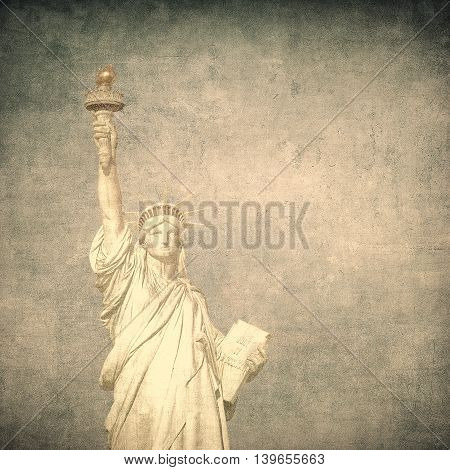 Highly detailed grunge image of liberty statue