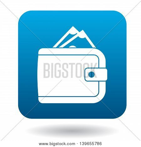 Wallet icon in flat style on a white background