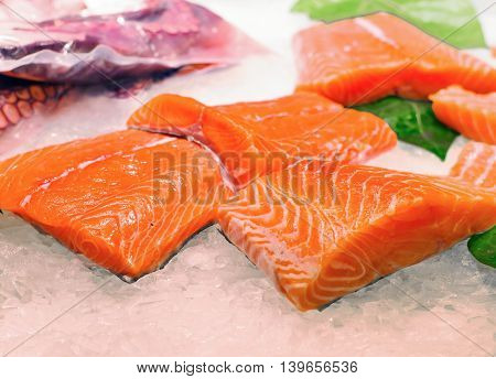 Fresh Fish At   La Boqueria Market In Barcelona
