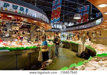 La Boqueria Market In Barcelona