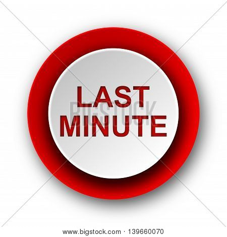 Last Minute Red Modern Web Icon On White Background