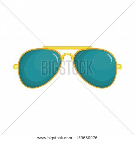 Glasses icon in cartoon style isolated on white background. Accessories symbol