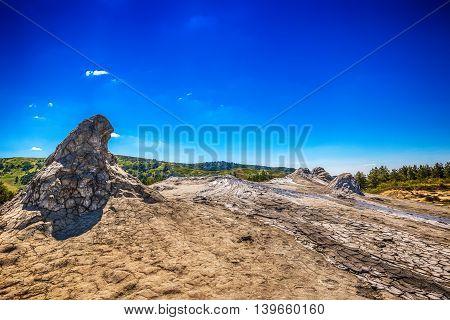 Mud volcano in Buzau Romania, outdoor shot