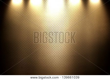 brown metal mesh with spotlight background