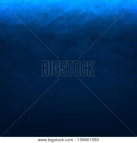 blue painting on wall background
