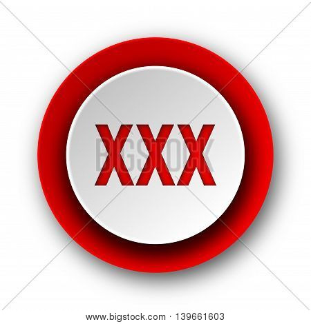 Xxx Red Modern Web Icon On White Background