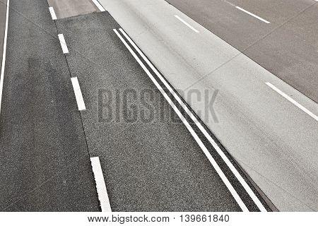 asphalt road texture of a german highway
