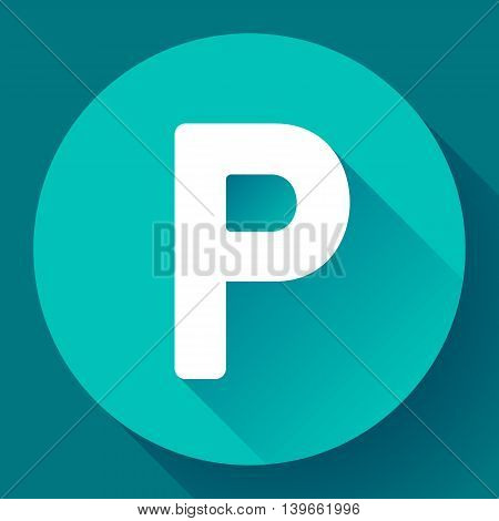 parking lot sign icon flat style vector illustration
