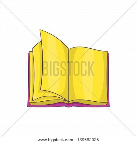 Open book icon in cartoon style isolated on white background. Reading symbol