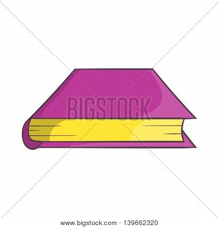 Thick book icon in cartoon style isolated on white background. Reading symbol