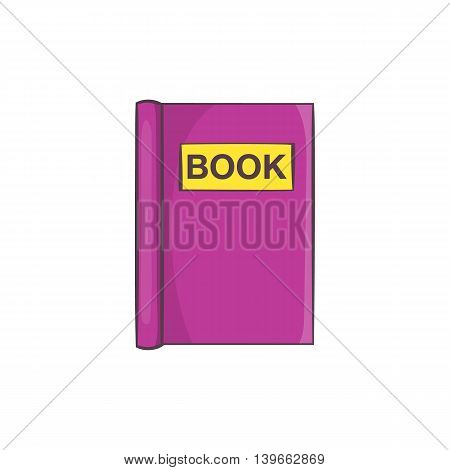 Book to read icon in cartoon style isolated on white background. Reading symbol