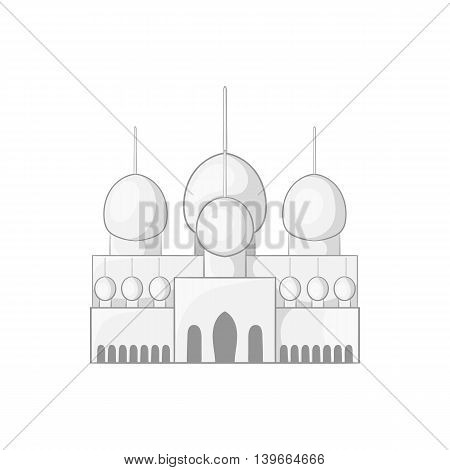 Mosque in UAE icon in cartoon style isolated on white background. Religion symbol