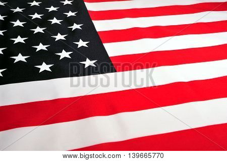 Close-up of the National Flag of USA