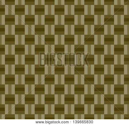 Weaving seamless geometric pattern background; brown color.