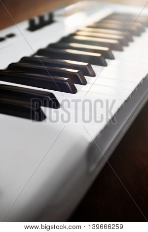 Synthesizer closeup
