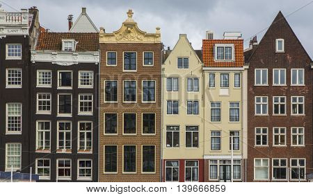 The Netherlands Holland Amsterdam the city's architecture old houses