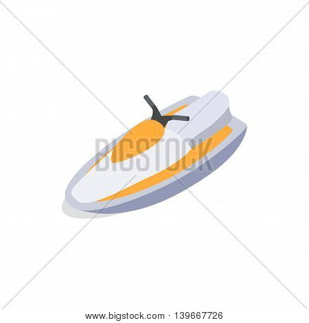 Jet ski icon in isometric 3d style isolated on white background. Maritime transport symbol
