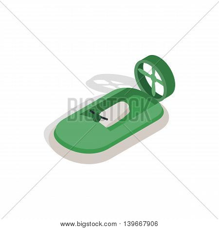 Motor boat icon in isometric 3d style isolated on white background. Maritime transport symbol