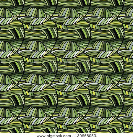 Tribal ethnic seamless green pattern. Boho art print. Bright background