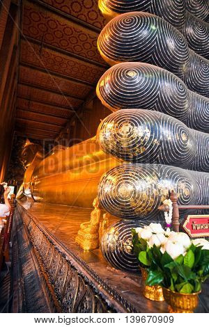 The Giant Reclining Buddha In Wat Pho, Thailand