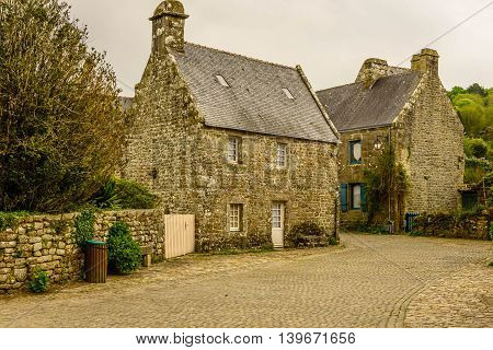 Locronan  village near Quimper, Brittany,.One the most beautiful villages of France