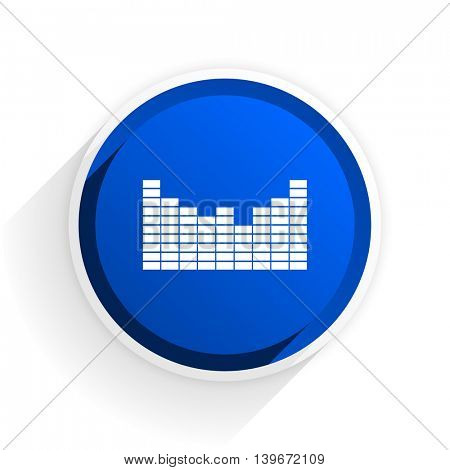 sound flat icon with shadow on white background, blue modern design web element