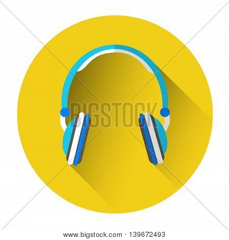 Headphones Head Phones Web Icon Flat Vector Illustration