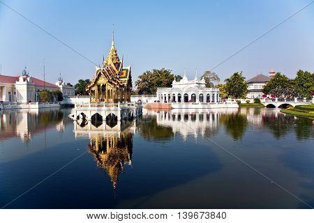Bang Pa-in Aisawan Thipya-art (divine Seat Of Personal Freedom) At The Royal Summer Palace