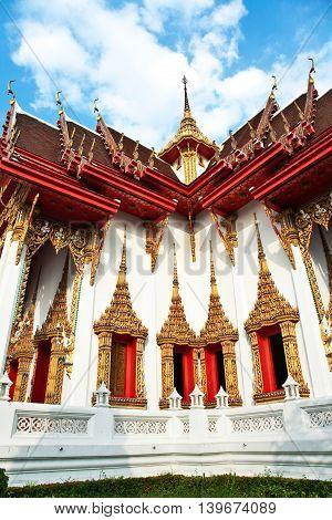 Temple Wat Thewarat At The River Mae Nam Chao Phraya