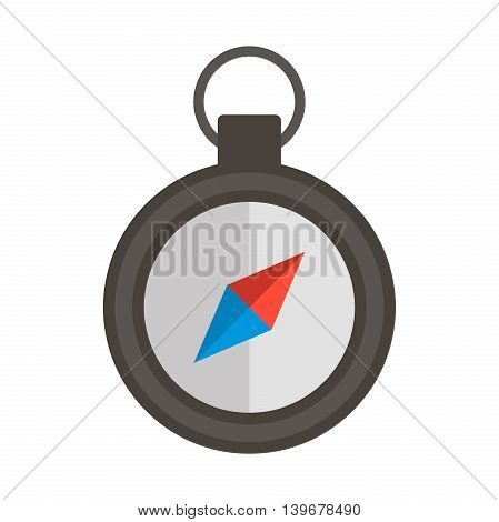 Compass flat icon. Vector illustration, EPS 10