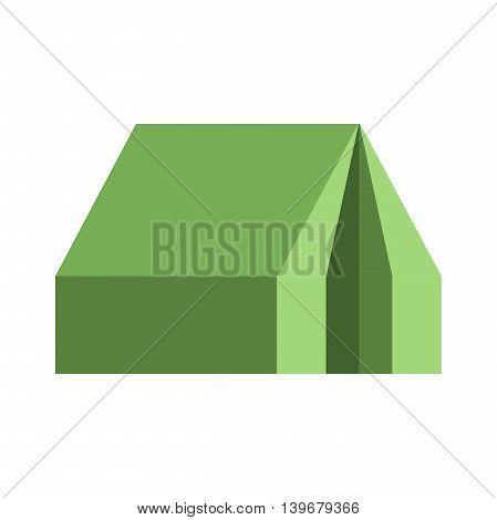 Flat tourist tent icon. Travel symbol. Vector illustration, EPS 10