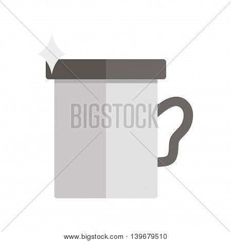 Flat travel mug icon. Vector illustration, EPS 10