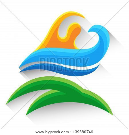 Swimming Sport Game Logo Competition Athlete Icon Vector Illustration