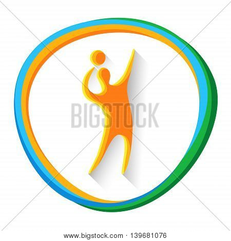 Volleyball Player Sport Game Logo Competition Icon Vector Illustration