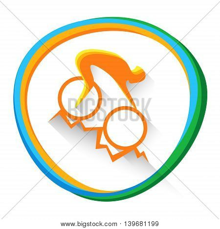 Cycling Mountain Bike Sportsman Sport Competition Icon Vector Illustration