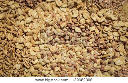 agriculture, background, breakfast, brown, buckwheat, grain, cereals,