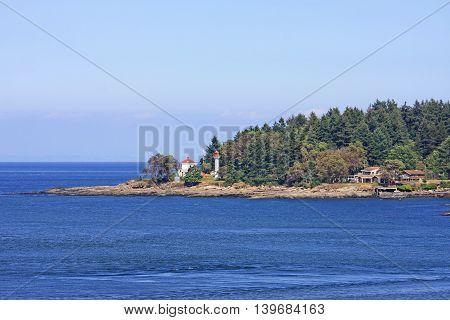 Coast of the Gulf Islands in the Georgia Strait, Canada