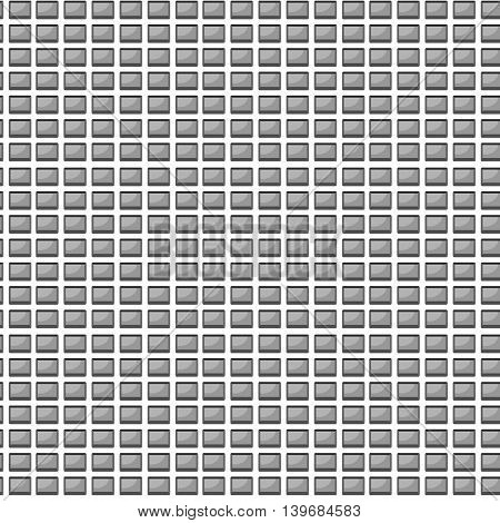 Seamless pattern with computer button. Web buttons and keyboard for computer vector illustration