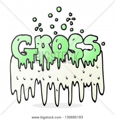 freehand drawn cartoon gross symbol
