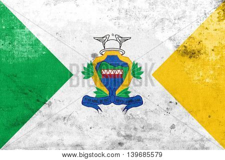Flag Of Santa Leopoldina, Espirito Santo State, Brazil, With A V