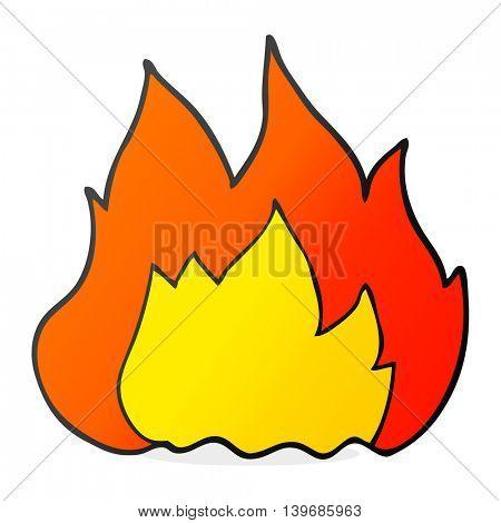 freehand drawn cartoon fire