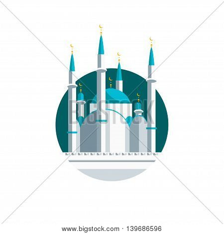 Icon of a mosque in a flat style for your design