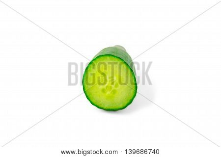 slice cucumber, isolated on white background, chopped, food, green, eating, healthy