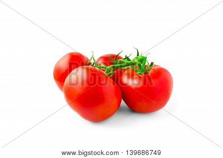 tomatoes branch, isolated on white background, food, vegetables, bright, summer, healthy