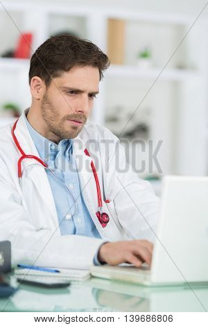 looking through medical results