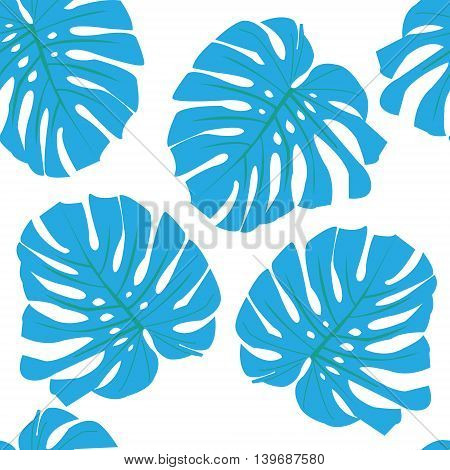 Tropical leaves. Floral design on white background